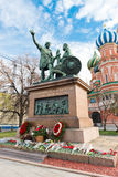 The monument to Minin and Pozharsky Stock Photos