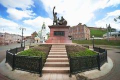 Monument to Minin and Pozharsky of Nizhny Novgorod. Russia Stock Images