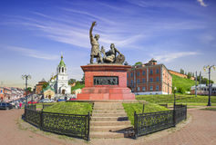 Monument to Minin and Pozharsky. Nizhny Novgorod, Russia. stock photography