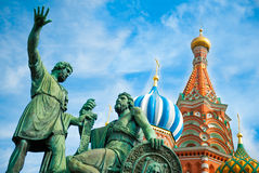 Monument to Minin and Pozharsky on the Red Square Royalty Free Stock Photography