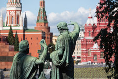 Monument to Minin and Pozharsky. In Red Square Royalty Free Stock Image