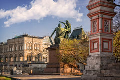 Monument to Minin and Pozharsky. On Red Square Stock Photography