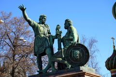 Monument to Minin and Pozharsky on Red Square Royalty Free Stock Images