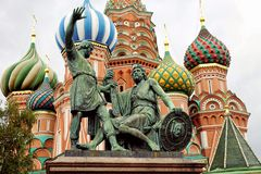 Monument to Minin and Pozharsky on Red Square Royalty Free Stock Photography