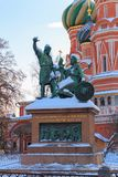 Monument to Minin and Pozharsky on the Red Square in Moscow Royalty Free Stock Images
