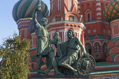 Monument to Minin and Pozharsky Stock Images