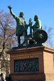 Monument to Minin and Pozharsky on Red Square. In Moscow Stock Photography