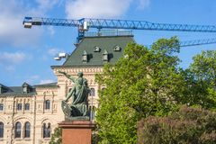 Monument to Minin and Pozharsky on Red Square, Moscow. Russia Stock Photos