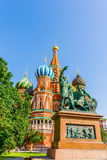Monument to Minin and Pozharsky on Red Square of Moscow Stock Photography
