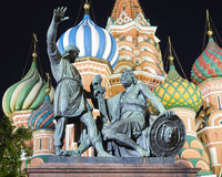 Monument to Minin and Pozharsky on Red Square, Moscow, Russia Stock Image