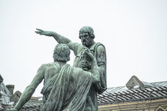 Monument to Minin and Pozharsky on Red Square. Moscow, Russia. The Monument to Minin and Pozharsky is a bronze statue on Red Square in Moscow, Russia, in front Stock Photos