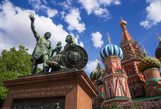 Monument to Minin and Pozharsky on Red Square in Moscow Royalty Free Stock Photography