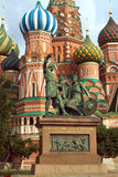 Monument to Minin and Pozharsky on Red Square in Moscow Russia Stock Photos