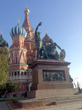 Monument to Minin and Pozharsky on Red Square in Moscow Stock Photo