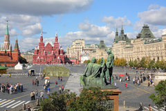 Monument to Minin and Pozharsky in Red Square Stock Photography