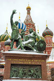 Monument to Minin and Pozharsky on Red Square, Russia Stock Image