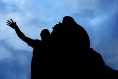 Monument to Minin and Pozharsky silhouette Royalty Free Stock Photo