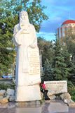 Monument to Monk Alexiy in Samara, Russia. Stock Image