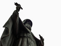 The monument to the monk in the city of Kaluga in Russia. Stock Photos