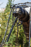 Monument to a mosquito-oil industry worker in Usinsk Stock Image