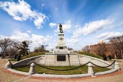 Monument to Muravyov-Amursky in Khabarovsk Royalty Free Stock Photo