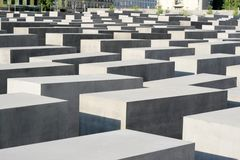 Monument To The Murdered Jews Of Europe in Berlin. Close up detail of The concrete blocks that make up the public Memorial to the Murdered Jews of Europe. The Stock Photography