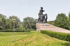 Monument to the murdered victims in Babyn Yar. Kiev, Ukraine. Royalty Free Stock Photography