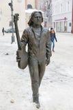Monument to musician Tadeusz Nalepa in Rzeszow, Poland. Royalty Free Stock Photos