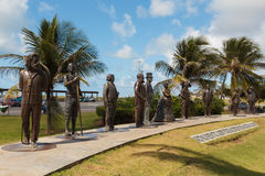 Monument to national founders, Aracaju, Sergipe state, Brazil. ARACAJU, SE/BRAZIL - JUNE 24: Monument to national founders near beach Orla Atalaia on June 24 Stock Image
