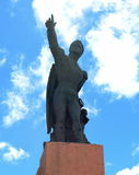 The monument to the national hero of Chile, Bernardo O`higgins to Punta arenas. Royalty Free Stock Photos