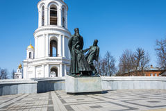 A monument to the new martyrs of Russia in Shuya, Ivanovo oblast Stock Images