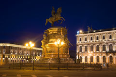 Monument to Nicholas I on St. Isaac's square. Saint Petersburg, Russia Stock Images