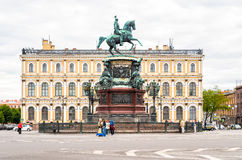 Monument to Nicholas I on St. Isaac's Square Royalty Free Stock Photos