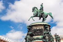Monument to Nicholas I in St. Petersburg Royalty Free Stock Image
