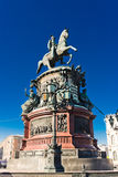 The monument to Nicholas I (1859) in St. Petersburg, Royalty Free Stock Photography