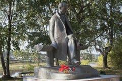 Monument to Nikolai Mikhailovich Rubtsov in city Totma, Vologda region Royalty Free Stock Image