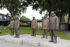 Monument to the Norwegian polar explorers. OSLO, NORWAY - JULY 1, 2016: It is a monument to the Norwegian polar explorers near the museum ship Fram Stock Images