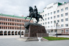 Monument to Obolensky-Nogotkov in Yoshkar-Ola. Yoshkar-Ola, Russia - May 28, 2017 Monument to the founder and first governor of Tsarevokokshaysk, Prince IA Stock Images