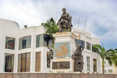 Monument to Olmedo on Malecon 2000  Guayaquil, Ecuador Royalty Free Stock Photography