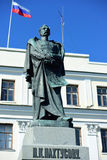 Monument to P. K. Pakhtusov in Kronstadt, Russia Royalty Free Stock Photography