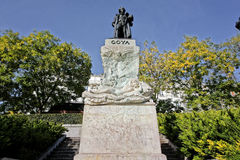 Monument to the painter Francisco de Goya and Lucientes Stock Images