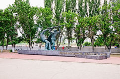 Monument to paratroopers in Feodosia Royalty Free Stock Photo