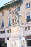 The monument to Parmigianino in Parma. The stone monument with fountain dedicated to Girolamo Francesco Maria Mazzola, also famous as Parmigianino, the great royalty free stock photo
