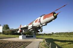 Monument to Pavel Sukhoi in Hlybokaye. Belarus Stock Image