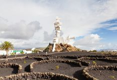 The Monument to the Peasant Farmer. Was built to honour agriculture on the Spanish island of Lanzarote Royalty Free Stock Photos