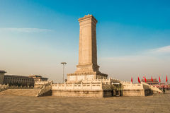 Monument to the People's Heroes on Tian'anmen Square, Beijing Stock Photography