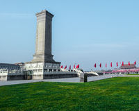 Monument to the People's Heroes on Tian'anmen Square, Beijing Royalty Free Stock Image