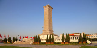 Monument to the People's Heroes at the Tiananmen Square, Beijing, China Stock Photo