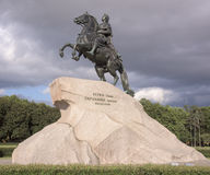 Monument to Peter 1 (Bronze Horseman). 1782. Sculptor E.-M. Fal Royalty Free Stock Image