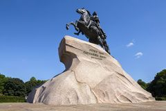 A monument to Peter - the Bronze Horseman, St. Petersburg, Russia Royalty Free Stock Photography